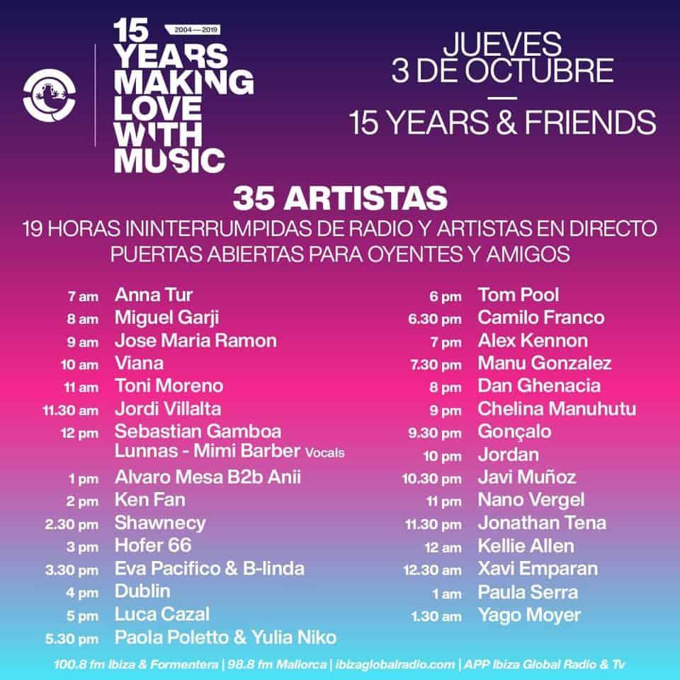 15-Jubiläum von Ibiza Global Radio