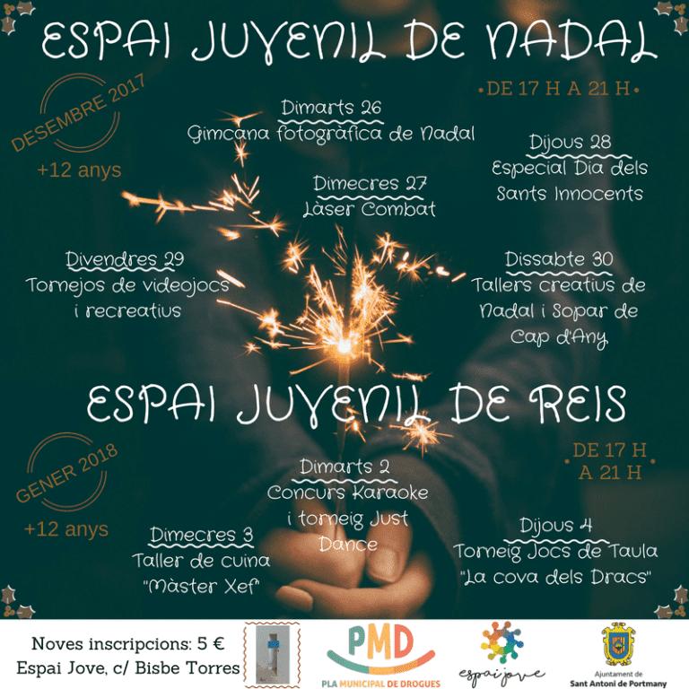 Мероприятия для детей от 12 лет в Espai Jove de San Antonio