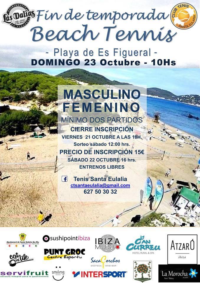 Покажите свою ракетку на пляже на теннисном турнире Es Figueral