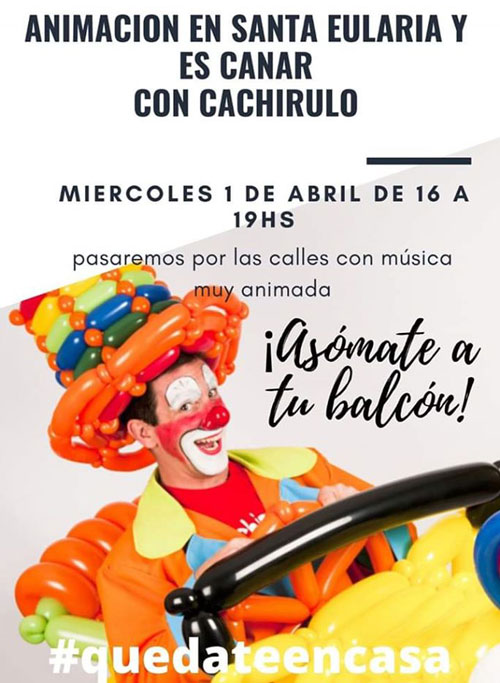 Cachirulo will pass through the streets of Santa Eulalia to entertain the little ones