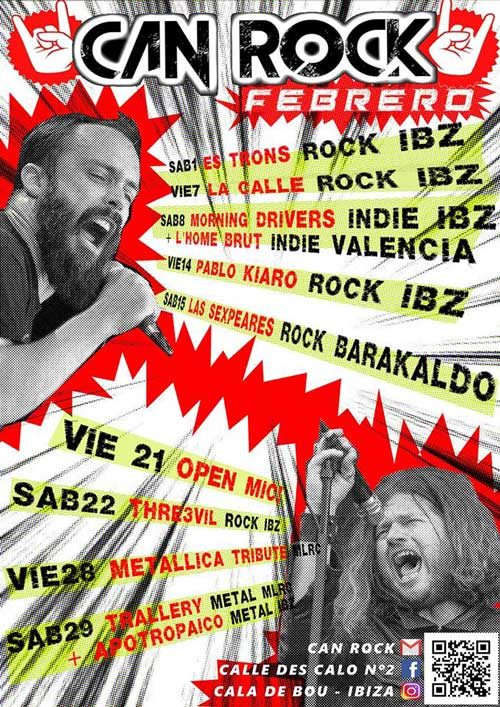 Fridays and Saturdays of live music at Can Rock Ibiza