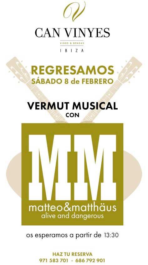 Vermut musical los sábados en Can Vinyes Ibiza