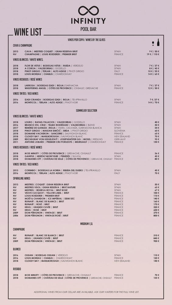 Carta Infinity Pool Bar 7Pines Kempinski Ibiza 2020 00