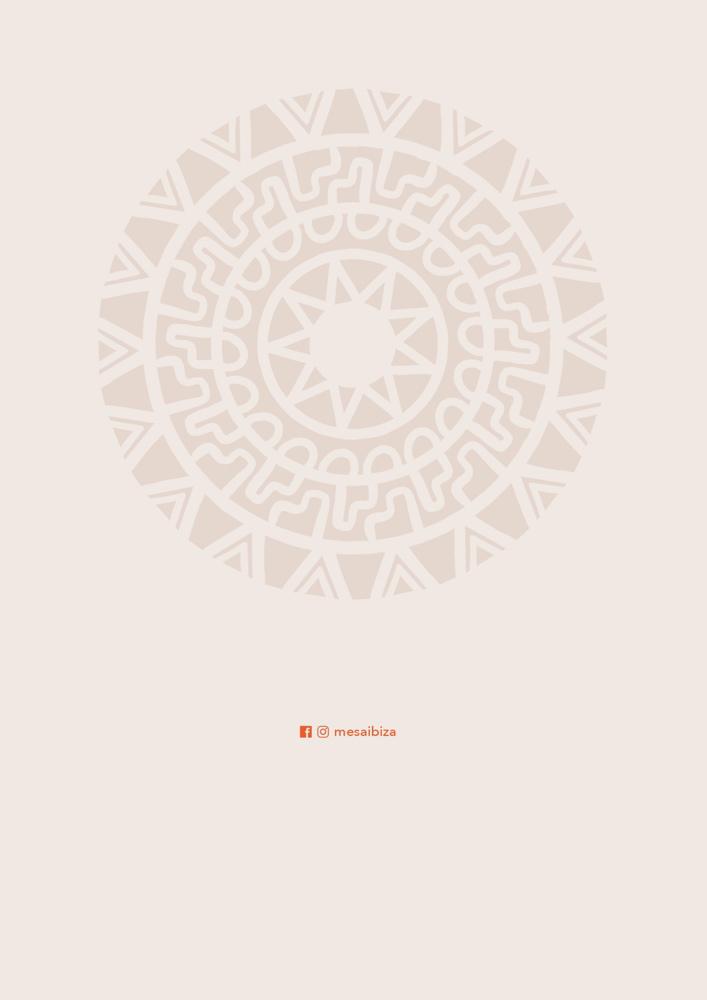 Carta Mesa Ibiza 2020