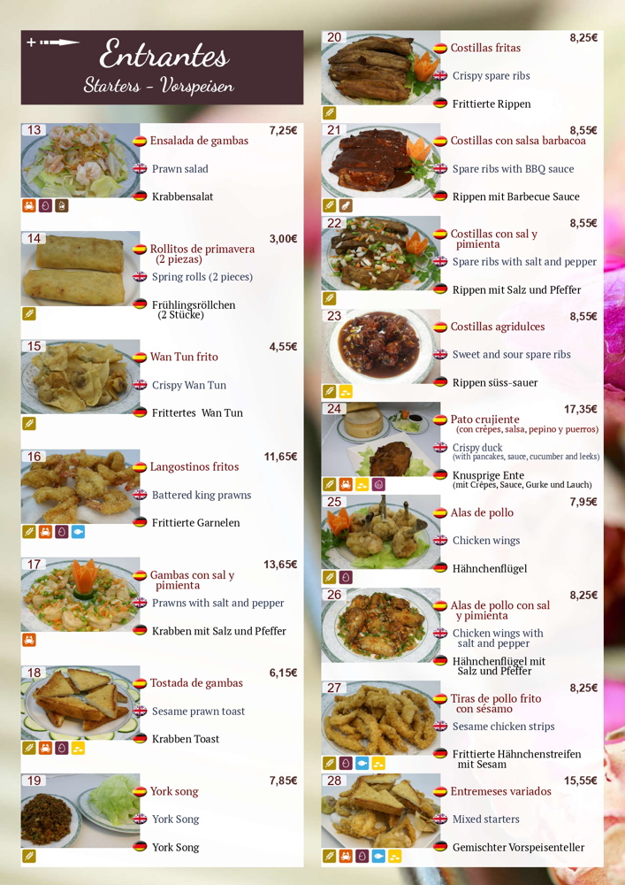 Menu del ristorante Panda Ibiza 00