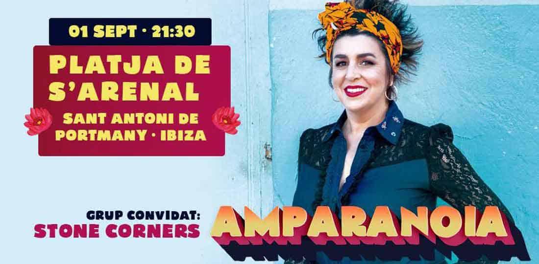 Concert d'Amparanoia sur la plage de S'Arenal