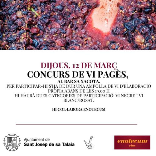ОТМЕНЕНО: Винный конкурс Payés в Са Xacota