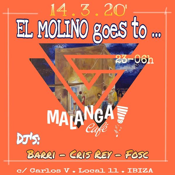 El Molino geht diesen Samstag, den 14. März, ins Malanga Café Ibiza