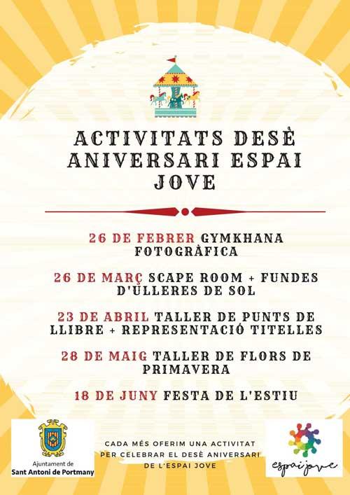 Der Espai Jove von San Antonio feiert sein 10-jähriges Bestehen!