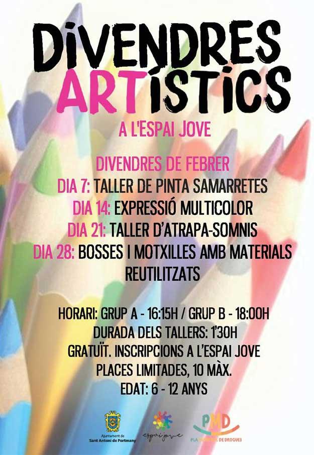¡Viernes artísticos en el Espai Jove de Sant Antoni!