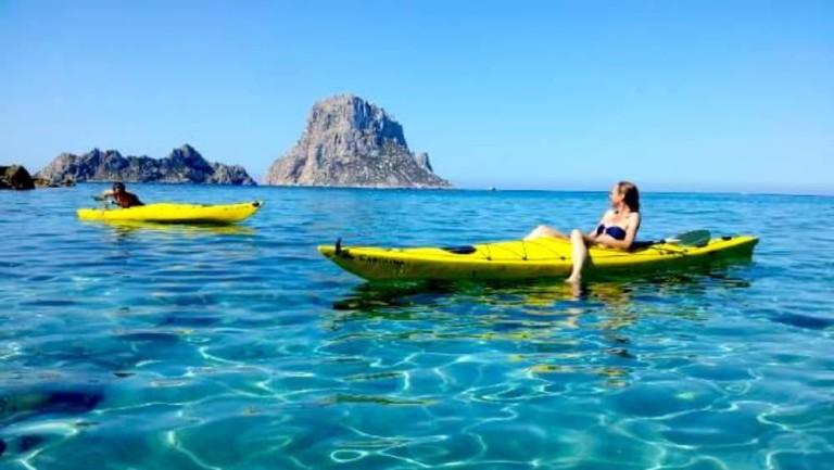Kajak fahren auf Ibiza
