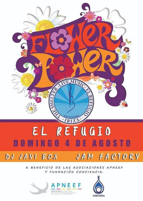 Flower Power solidarity party at El Refugio Ibiza