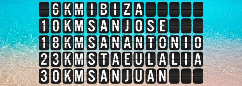 Cómo moverte desde el aeropuerto de Ibiza