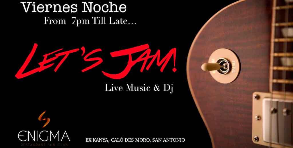 Vendredi des Jam Sessions à Enigma Ibiza
