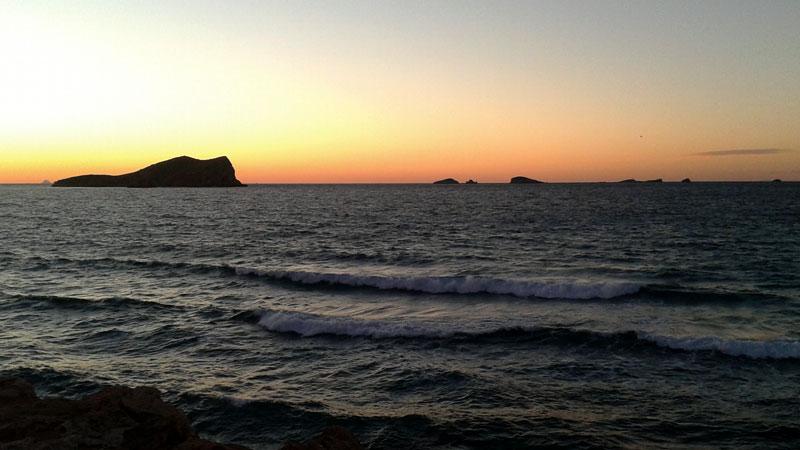 Zonsondergang-Ibiza