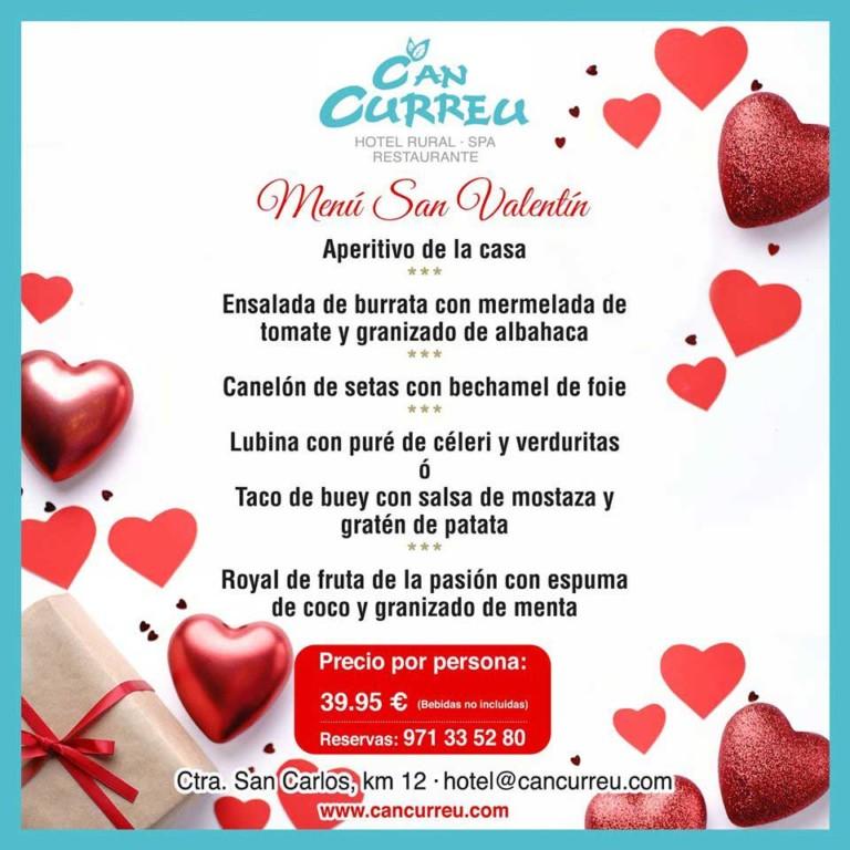 Изысканное меню Валентина в Can Curreu Ibiza