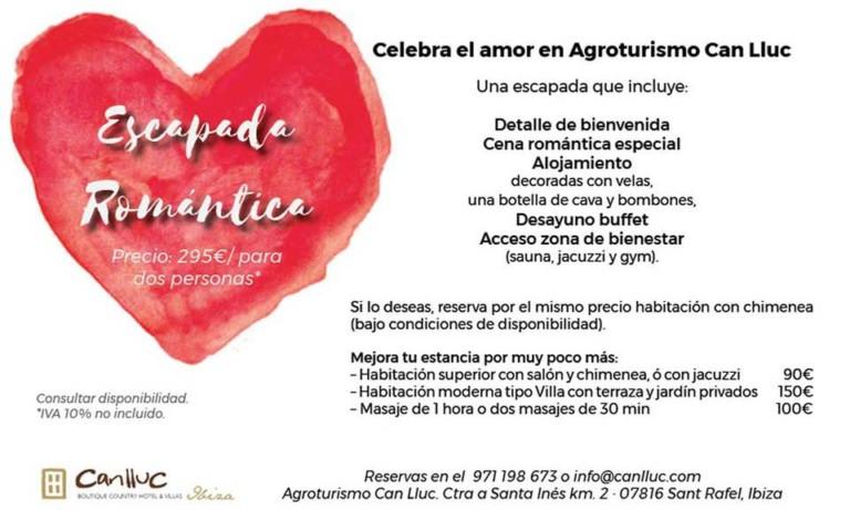 Удивите своего партнера в этот День святого Валентина на Ибице в Кан Льюке