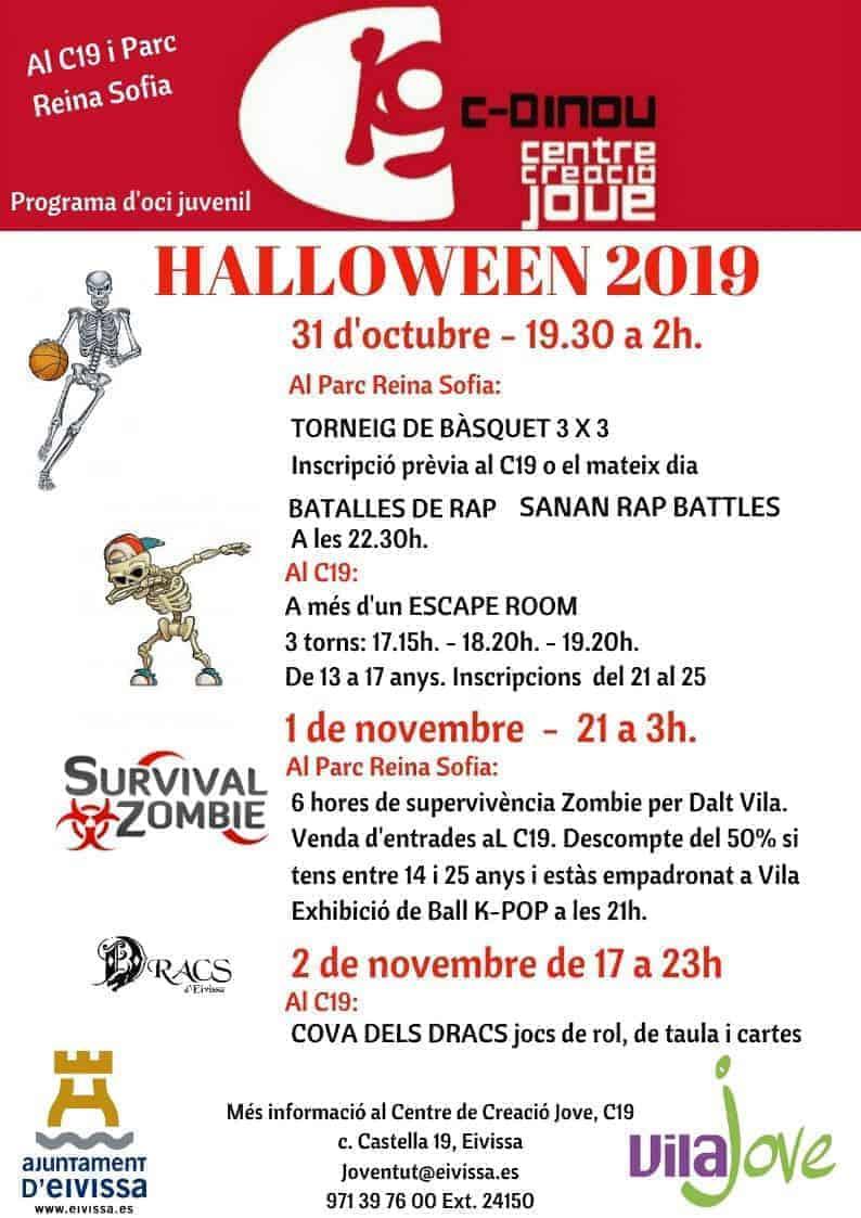 Веселые мероприятия на Хэллоуин на C19 Ibiza