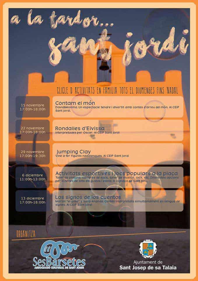 Actividades familiares gratis los domingos en Sant Jordi