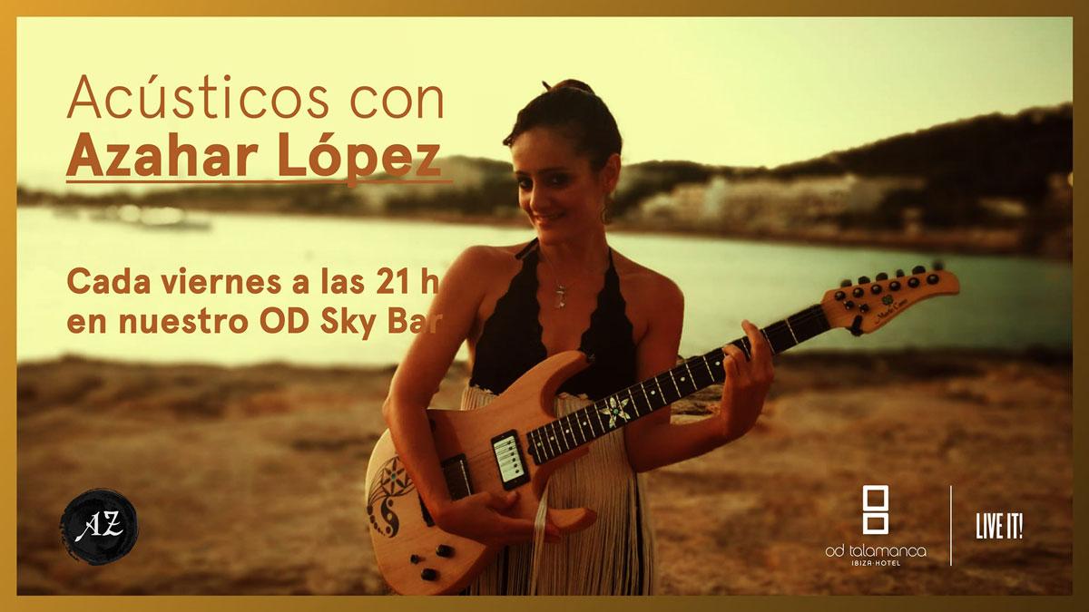 Akustik mit Azahar López in der Skybar von OD Talamanca