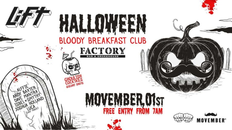 After de Halloween en Factory Bar & Smokehouse