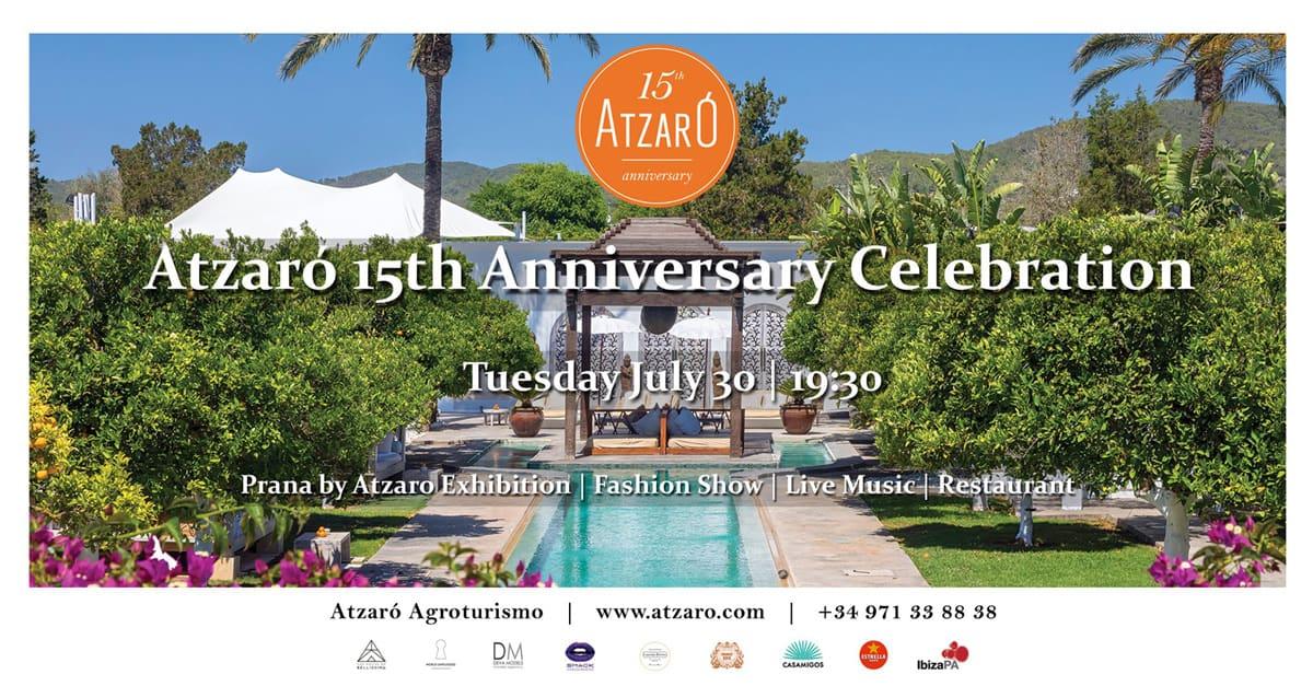 Amusement et style à la célébration d'anniversaire 15 d'Atzaró Ibiza