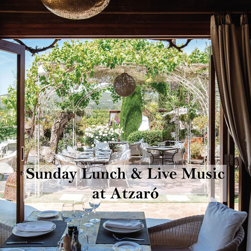 Lunches with live music on Sundays in Atzaró Ibiza