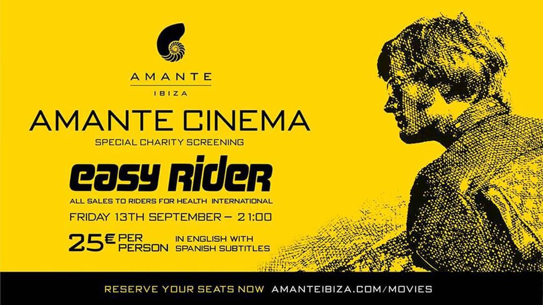 Cinéma de solidarité sous les étoiles à Amante Ibiza