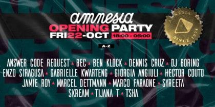 Amnesia Ibiza Eröffnungsparty CLUBBING