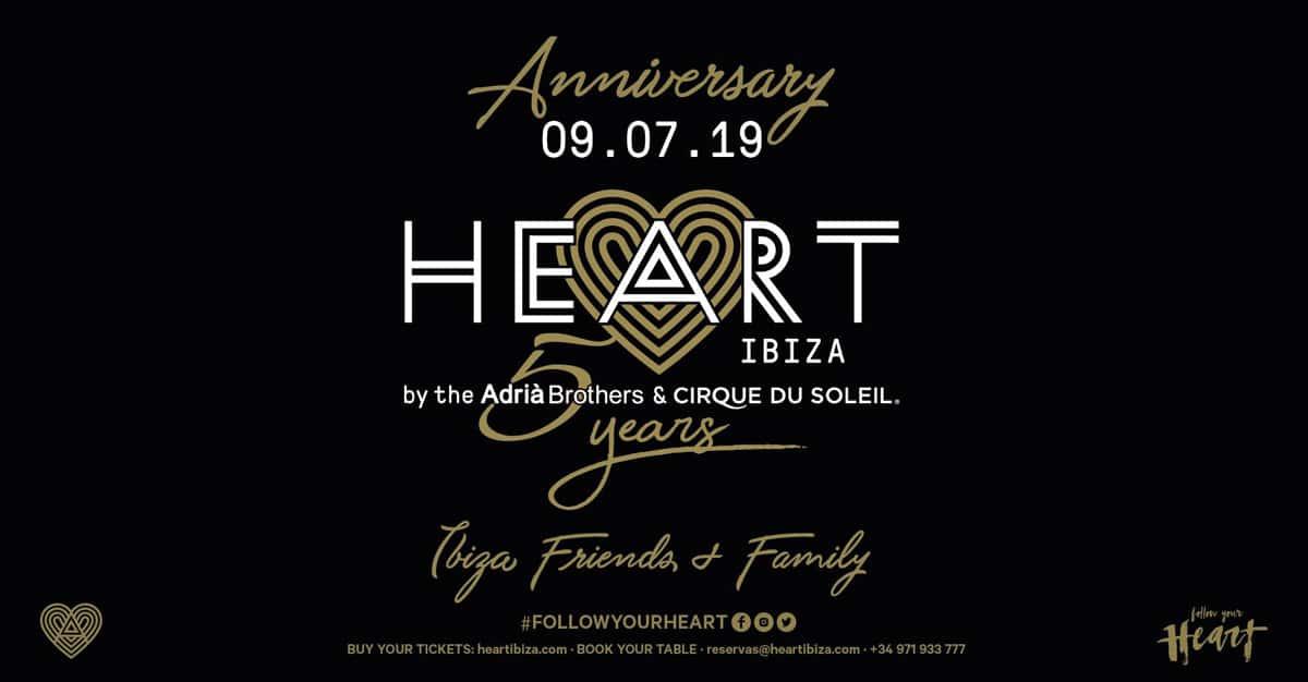 Herz Ibiza feiert sein fünfjähriges Bestehen mit einem ganz besonderen Abendessen