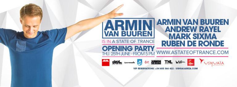Opening de Armin van Buuren is in A State of Trance en Ushuaïa Ibiza