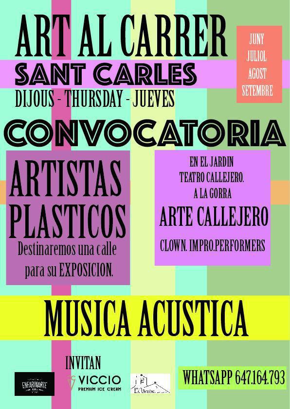Art al Carrer: Kunst und Musik jeden Donnerstag in San Carlos