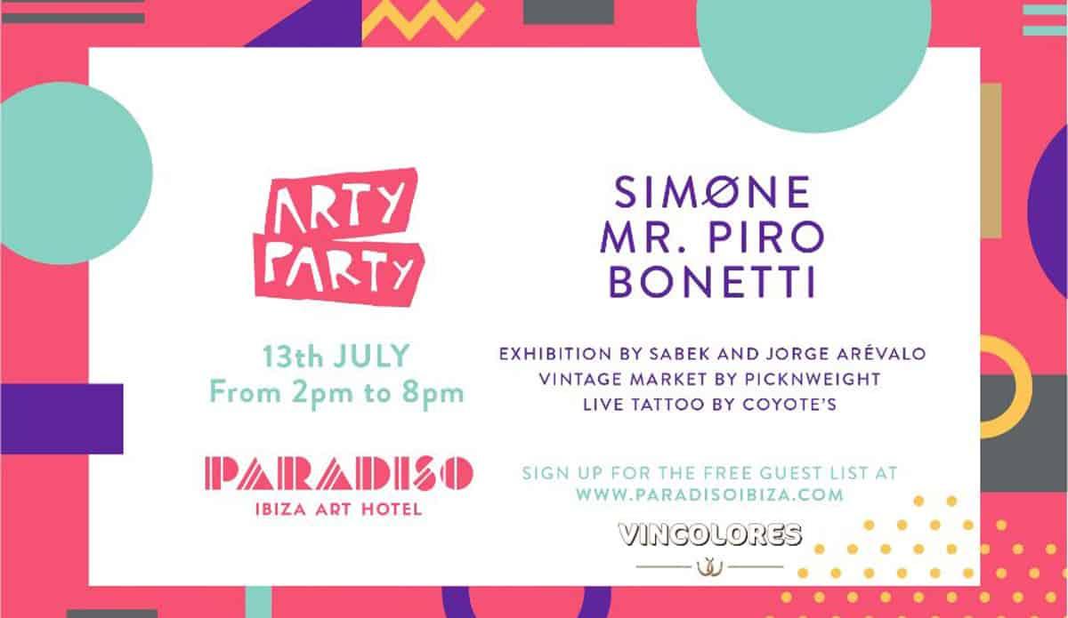 Nouvelle fête Arty à l'hôtel Art Paradiso Ibiza