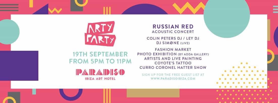 Concert de Red Russian au Paradiso Ibiza Art Hotel suivi par Arty Party