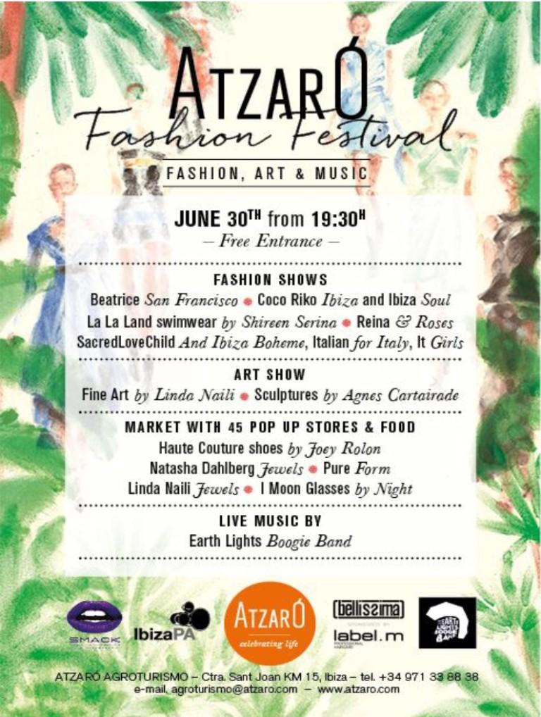 Fashion show at Atzaró Fashion Festival in Agroturismo Atzaró Ibiza