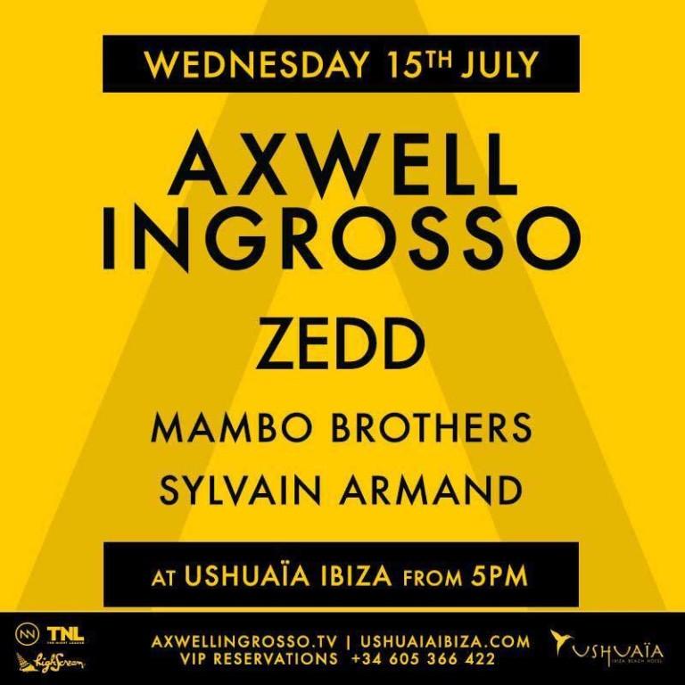 Zedd with Axwell & Ingrosso