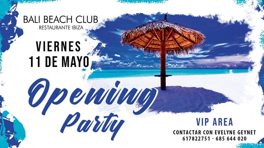 Bali Beach Club Opening Party