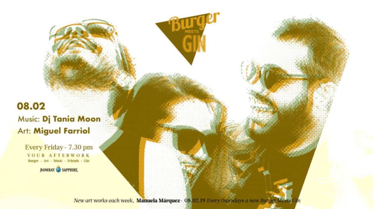 Tania Moon this Friday at the Burger Meets Gin of OD Ocean Drive Ibiza