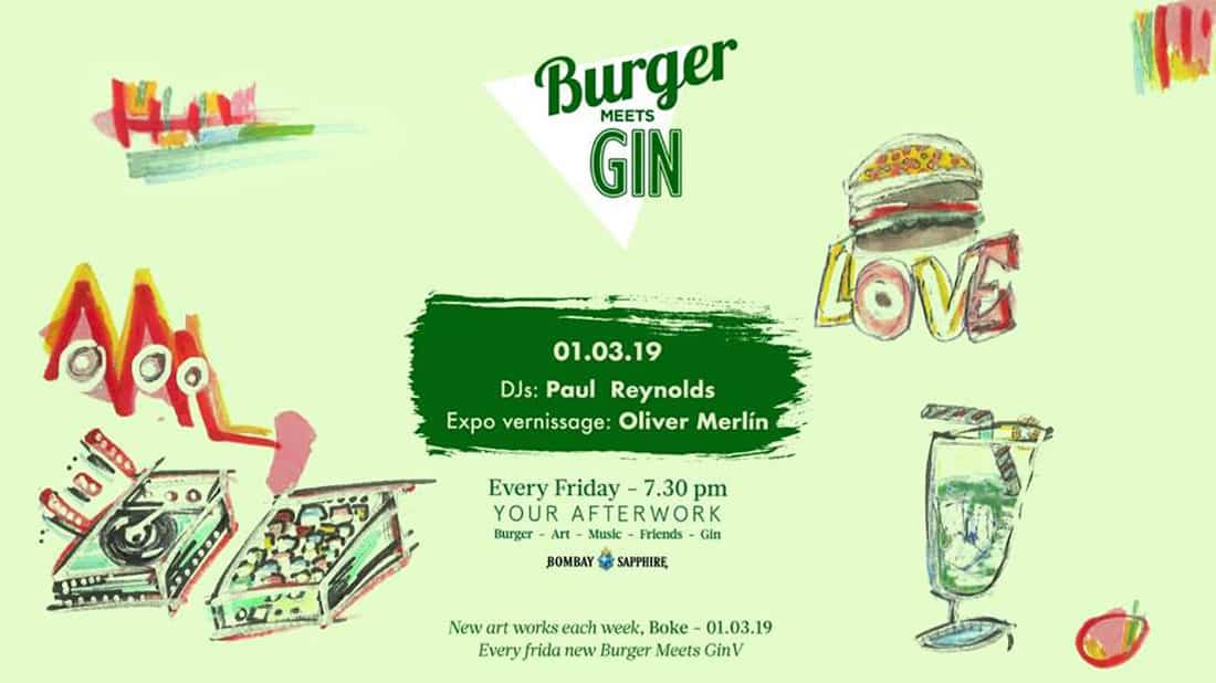 Paul Reynolds at the Burger Meets Gin this Friday