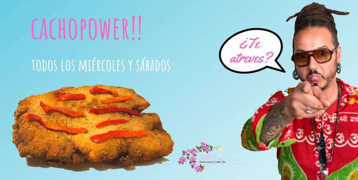 Atrévete con Cachopower! en Buganvilla Ibiza