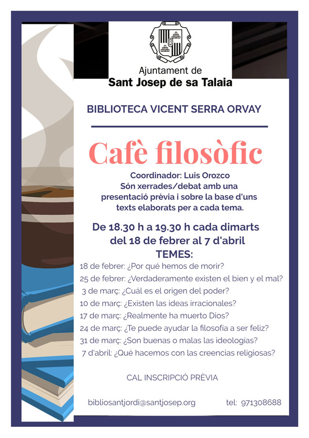 Философский кофе каждый вторник в библиотеке Sant Jordi