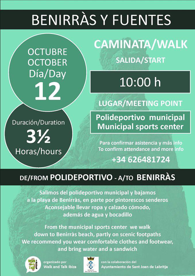 Caminata Benirràs y Fuentes con Walk & Talk Ibiza
