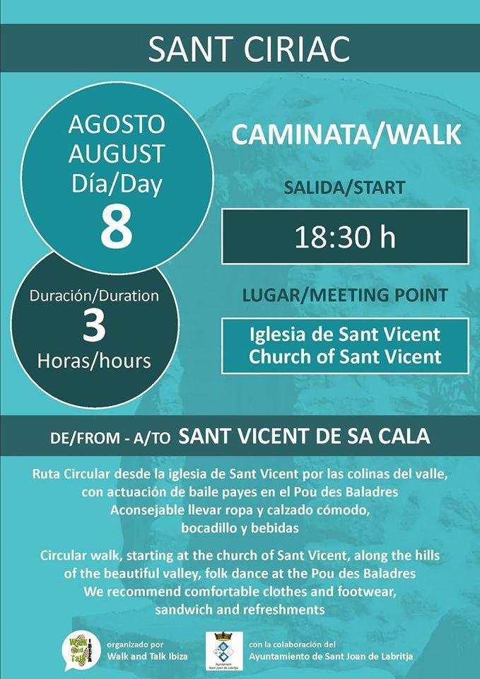 Caminata de Sant Ciriac por Cala San Vicente