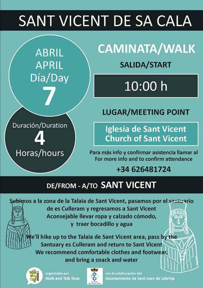 Бесплатная экскурсия в Сан-Висент-де-Са-Кала с прогулкой и беседой на Ибице