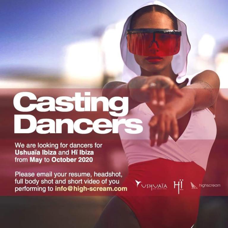 Я работаю на Ибице 2020: кастинг танцоров для Ушуайя и Хи Ибицы