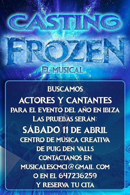 Casting per Frozen il musical questo sabato a Ibiza