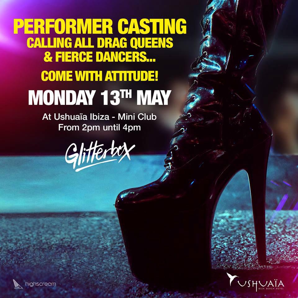 Работа на Ibiza 2019: кастинг трансвеститов и танцоров для Glitterbox