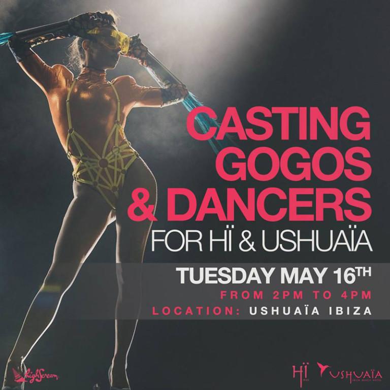 Werk op Ibiza 2017: Casting van gogós en dansers voor Hï en Ushuaïa Ibiza