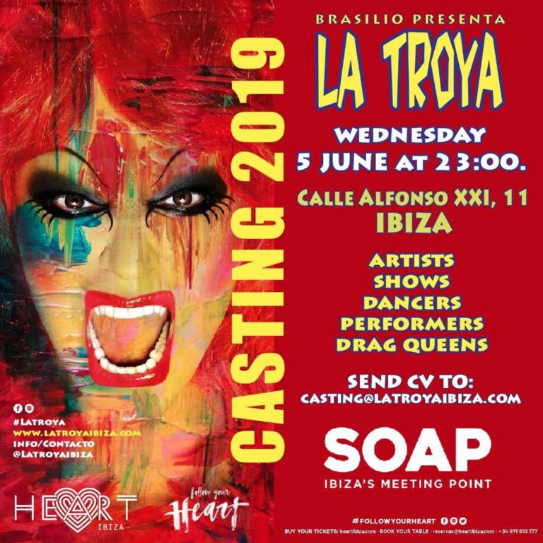 Работа на Ибице 2019: кастинг La Troya в мыле