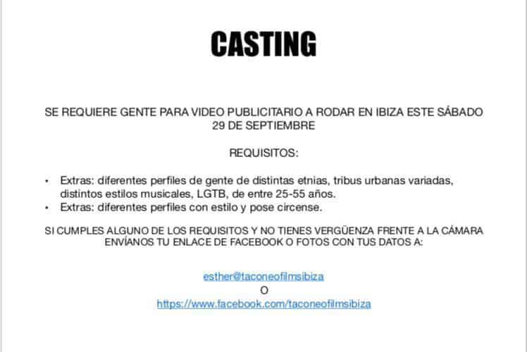Casting für ein in Ibiza gedrehtes Werbevideo